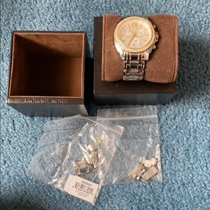 Michael Kors silver and gold women's watch